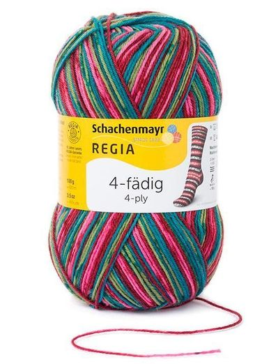 REGIA 4-fädig Color 100g Sockenwolle Farbe 01932 denim jeansblau Color
