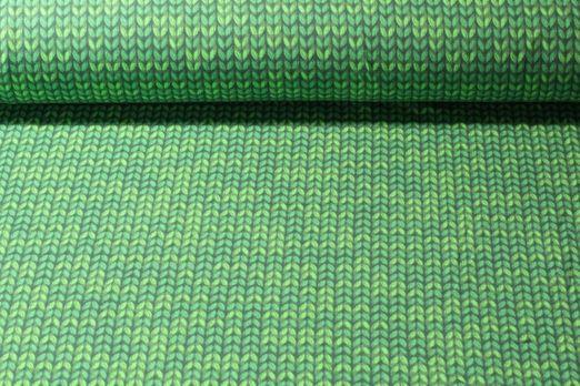 Jersey gemustert - Printed Knitted Grün