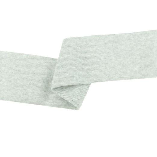 Fertigbündchen Uni Melange Weiß