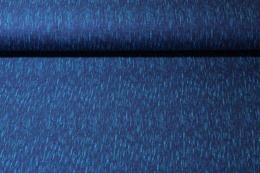 Jersey gemustert - Weboptik Cobalt