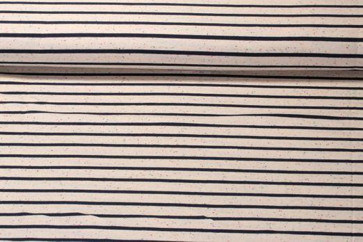 Jersey gestreift - Streifen Navy Ecru Multicolor Melange