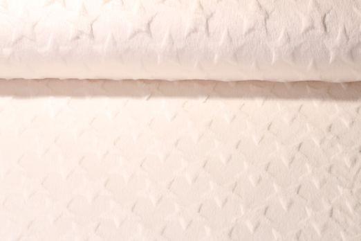 Fleece - Plüschfell Sterne Uni Creme
