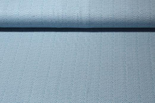 Jersey gemustert - Scallops Blau Weiß