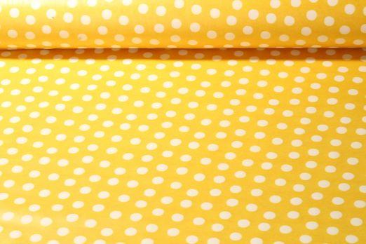 Spezialstoffe  - Regenjacke Punkte Gelb Weiss