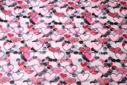 Spezialstoffe  - Regenjacke Transparent Rainy Herzen Multicolor
