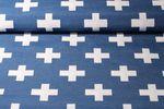 Canvas gemustert - Plus Blau Weiß 001