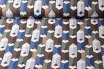 Jersey gemustert - 3D Buntstifte Braun Multicolor 001
