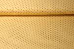 Jersey gemustert - Dots Ocker Schwarz 001
