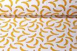 Jersey gemustert - Geruchsstoff Bananen Weiß Gelb 001