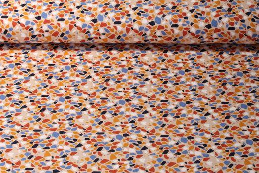 Jersey gemustert - Mosaik Beige Multicolor