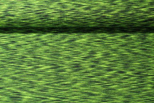 Jersey gemustert - Gelb Schwarz Melange