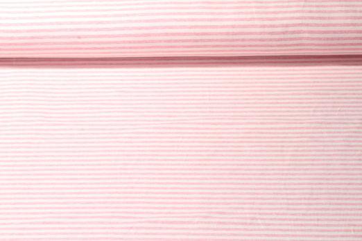 Jersey gestreift - Soft Touch Off White Rosa Melange
