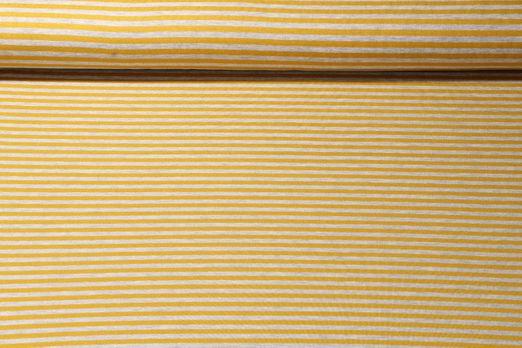 Sweat gestreift - Modal Sweat Stripe Grau Melange Gelb