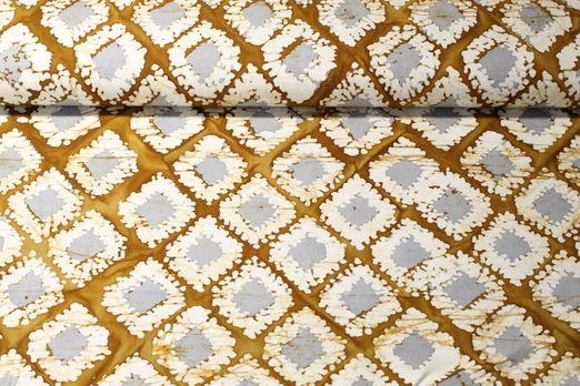 Canvas gemustert - Batik Rauten Gelb