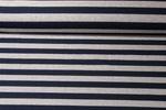 Jersey gestreift -Blockstreifen Grau Melange Navy 001