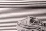 Jersey gestreift - Stripes Doubleface Grau Weiss 001