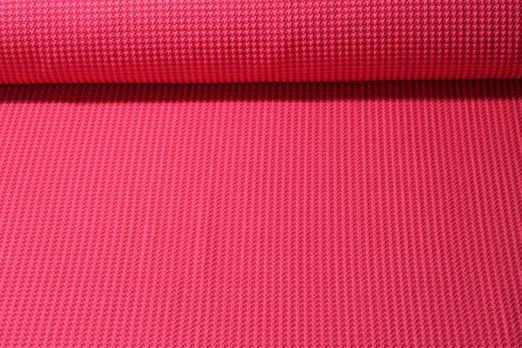 Jersey gemustert - HHL Tweed Knit Jacquard GOTS  Hamburger Liebe Fuchsia