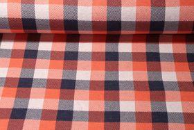 Jersey gemustert - Check Point Jacquard Douglas Hamburger Liebe Orange Multicolor