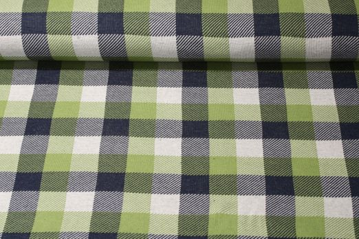 Jersey gemustert - Check Point Jacquard Douglas Hamburger Liebe Grün Multicolor