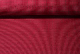 Jersey gemustert - HHL Tweed Knit Jacquard GOTS  Hamburger Liebe Bordeaux