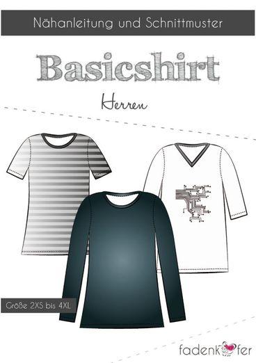 Basic Shirt Herren - Papierschnittmuster