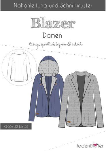 Damen Blazer - Papierschnittmuster