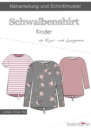 Kinder Shirt - Schwalbenshirt - Papierschnittmuster