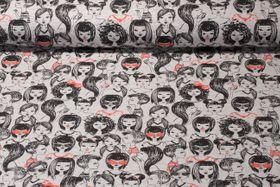 Jersey gemustert - Girls World Grau Multicolor