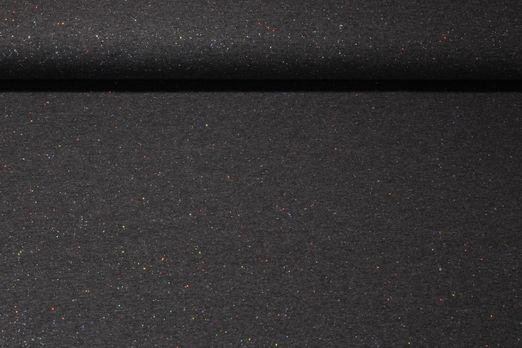 Jersey gemustert - Sparkling Glitzer Print Dunkelgrau Melange