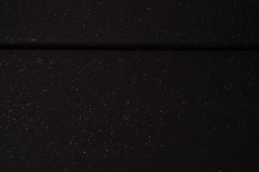 Jersey gemustert - Sparkling Glitzer Schwarz