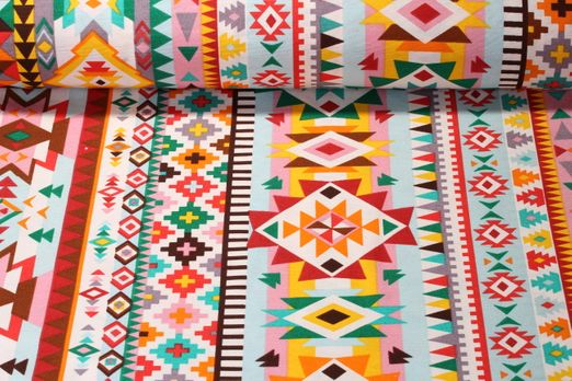 Canvas gemustert - Aztec Multicolor