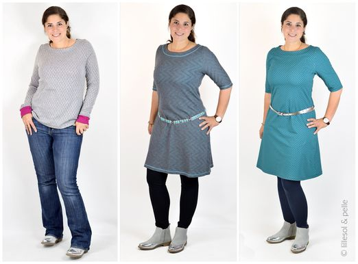 Jerseykleid mit Uboot-Ausschnitt - lillesol women No.22 - Schnittmuster eBook