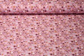Jersey gemustert - Frühlingsblümchen Altrosa Multicolor