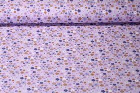 Jersey gemustert - Frühlingsblümchen Lila Multicolor
