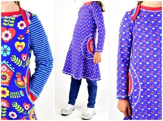 Kleid mit amerikanischem Ausschnitt - lillesol basic No.35 - Schnittmuster eBook