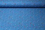 Jersey gemustert - Kleine Blume Blau Multicolor 001