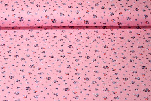 Jersey gemustert - Kleine Blume Rosa Multicolor