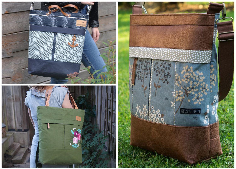 584c1dffd3234 Rucksack Handtasche - Mila Uni Bag - Schnittmuster eBook 001