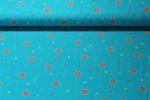 Jersey gemustert - Kleine Mandalablumen Petrol Multicolor 001