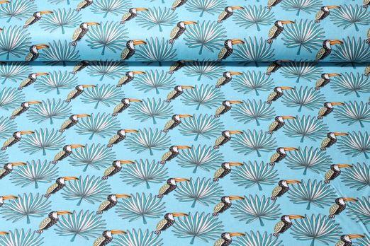 Baumwolle gemustert - Mambo Hellblau Multicolor