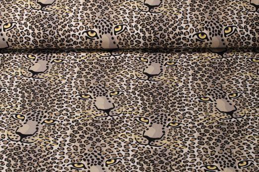 Jersey gemustert - Panther Beige Mulitolor