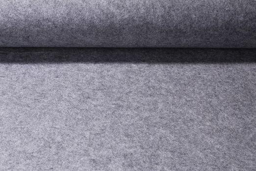 Stickfilz waschbar 1,5mm - Uni Grau Melange