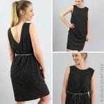 Kleid mit Rückendekolleté - FRAU SELMA - Schnittmuster eBook 001