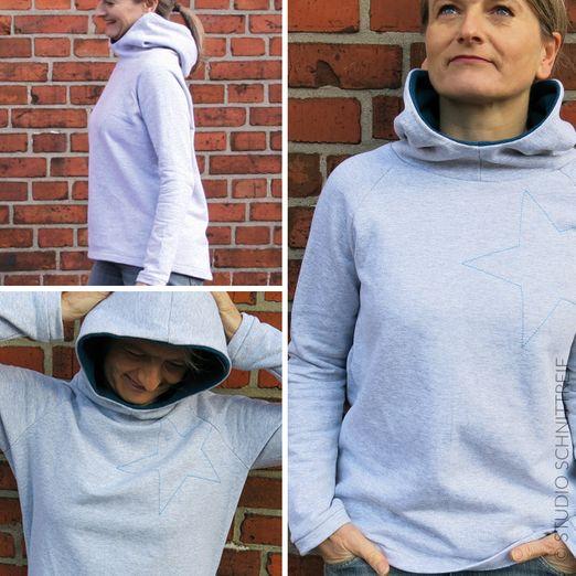 Kapuzensweater - FRAU TONI - Schnittmuster eBook