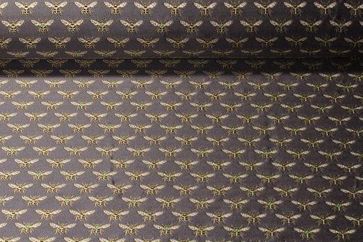 Canvas gemustert - Gobelin Honigbiene Graphit Multicolor