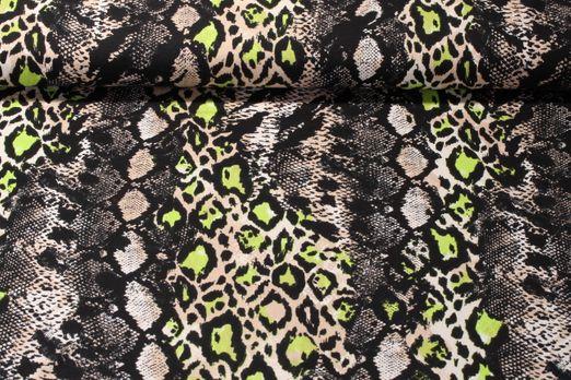 Jersey gemustert - Reptilmix Grün Multicolor