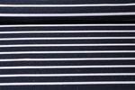 Jersey gestreift - Multicolor Stripes Big Navy Weiß 001