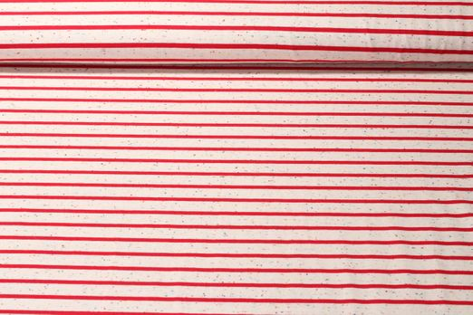 Jersey gestreift - Multicolor Stripes Small Rot Beige