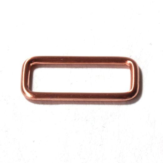 Vierkant Ring 25mm kupfer