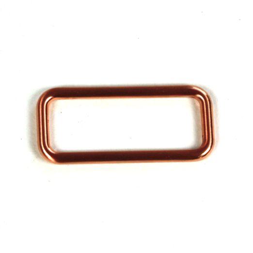 Vierkant Ring 40mm kupfer